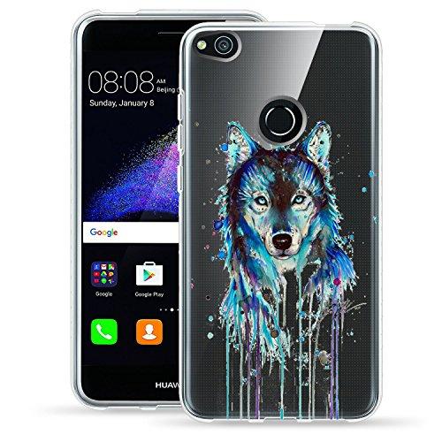 Caler Huawei P8Lite 2017–Carcasa, Silicona Clear Transparente Ultrafina P8Lite 2017Funda Flexible Anti Choque con protección TPU Animales diseño–Carcasa para Huawei P8Lite (2017) 5.2