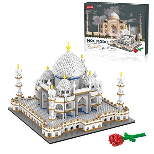 XIANGZI Micro Mini Blocks Taj Mahal Building Blocks 4146 pcs, World Famous Architectural Model,Nano Mini Building Blocks Sets, for Child Construction Educational DIY Toy Gifts.