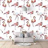 QHZSFF Papel Pintado Fotográfico,Flamenco animal Murales Papel Pintado,3D Papel Tapiz moderna de Salón Dormitorio Telón de Fondo 350 x 256cm