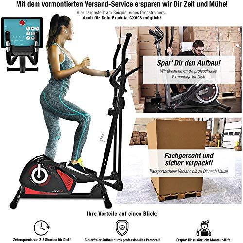 Sportstech CX608 Crosstrainer für zuhause inkl. VORMONTAGE | Deutsche Qualitätsmarke | Video-Events & Multiplayer App & Bluetooth Konsole | Heimtrainer Ergometer mit Pulsgurt