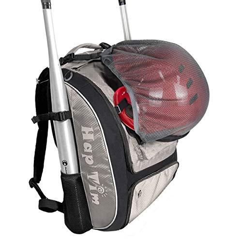 Hap Tim Baseball Bag/Softball Bag - Bat Bag Backpack for Kids Girls Youth Adults -Large Capacity Baseball/Softball Backpack with Separate Shoe Compartment (BQ1001-G)
