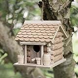 garden mile - Casetta per Uccelli in Sughero e Legno da Appendere e mangiatoia per Uccelli da Giardino