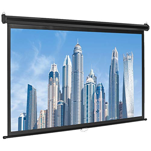 Amazon Basics 16:9 Pull Down Projector Screen - 80 Inch, White