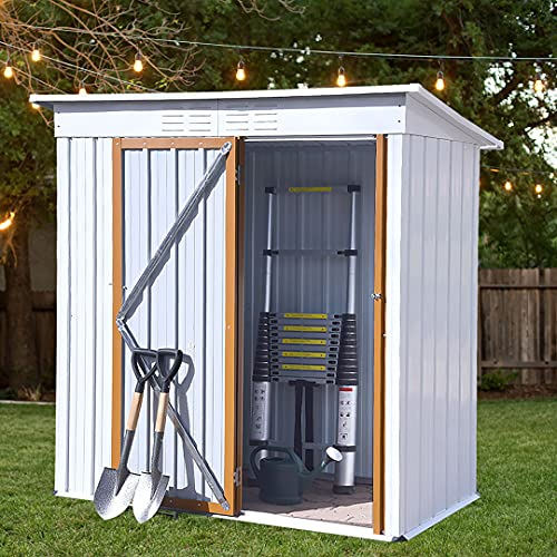 Outdoor Shed 5 x 3 FT Outdoor Storage Sheds,Metal...