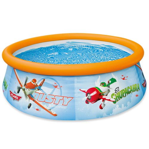 INTEX 0078257281022 PISCINETTE Easy Set Planes 1M83X0M51, 890 liters L, Orange et Bleu, 183x183x51 cm