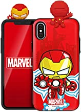 Marvel Avengers Figure Mirror Card Case for Samsung Galaxy S7 Edge (Iron Man)