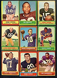 1963 Topps Football Complete Set w Jim Brown PSA Lilly 357278 Kit Young Cards