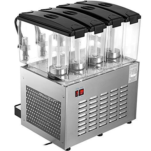 Moracle Dispensador de Bebidas 48L Dispensador de 48L Máquina de Dispensador de Jugo en Frío para Bebidas Comerciales con Tanque y Pantalla Dispensador de Jugo Refrigerado
