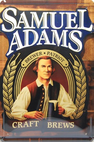 Samuel Adams Bier, Metall blechschild, Zinn Poster, Vintage Style Wandbild Ornament Kaffee Decor, Größe 20,3x 30,5cm