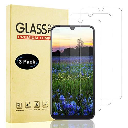 Lixuve Protector de Pantalla para Samsung Galaxy A50, 3 Piezas Vidrio Templado para Galaxy A50, Alta Sensibilidad, Anti-Burbuja, Anti-Aceite, Anti-Huella Cristal Templado