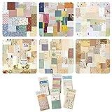 Mitening 360 hojas de papel de scrapbooking, papel decorativo, vintage, pegatinas de scrapbooking, accesorios de scrapbooking, flores vintage, diario de bricolaje, bloc de diseño vintage para diario