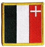 Flaggen Aufnäher Schweiz Kanton Neuenburg - 7 x 7 cm