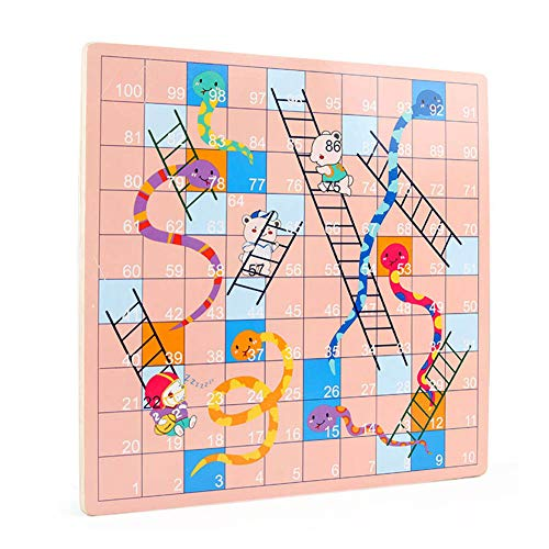 Ourine 2 in 1 Flying Chess Snake Ladder Gomoku Interactive Game Kids Adult Toy Educational Toy for Camping Flying Chess + Snake Chess