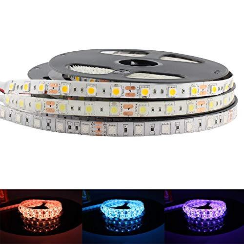 H/A DC 5V 12V 24V Las Tiras LED RGB no Son Impermeables 5050 5M Tiras LED Flexibles RGB 5 12 24 V Tira...