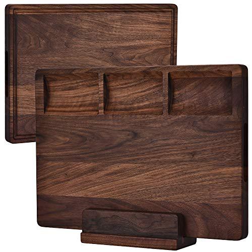 Tabla de cortar de madera de nogal