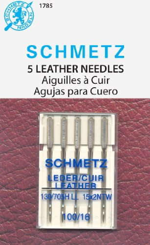 Euro-Notions - Agujas para máquina de Coser Piel, 16/100, 5 Unidades, Multicolor