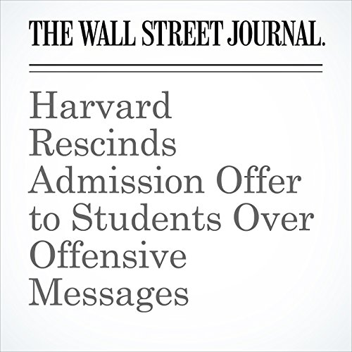 Harvard Rescinds Admission Offer to Students Over Offensive Messages copertina