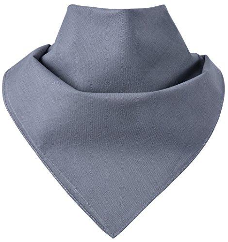 Miobo Bandana - Pañuelos para el cuello, 100% algodón, talla única gris medium