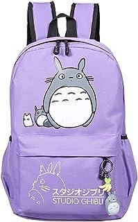 Teenager My Neighbor Totoro Backpack Canvas Cartoon Anime knapsack Travel Daypack Rucksack School Bag (Color : E)