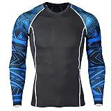 iCKER Camiseta de manga larga para hombre y niño que absorbe rápido secado ligero de compresión deportiva para ciclismo, esquí, correr, senderismo