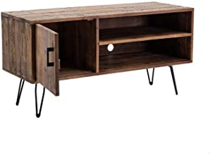 Carbon Loft Rustic Media TV Stand in Natural Finish