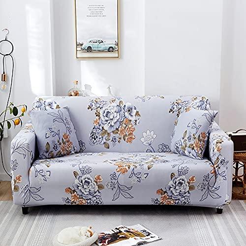 PPOS Sala de Estar Funda de sofá en Forma de L Funda de sofá elástica con Todo Incluido Funda de sofá de Esquina Suave Funda de sofá Universal Four Seasons D10 3 plazas 190-230cm-1pc