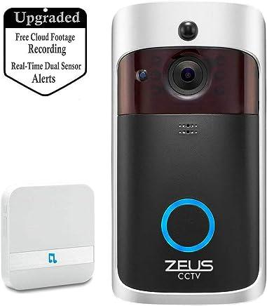 Nachtsicht und Smart App-Steuerung Iseebell WLAN-f/ähige HD Video-T/ürklingel mit Zwei-Wege-Audio