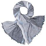 LINDENMANN Schal/Webschal Herren 100% Baumwolle, Herrenschal, blau