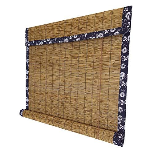 GEREP Cortina de Paja, Estores de Bambú, Persianas Romanas Retro, Cortina De Caña para Sala De Cama, Ventanas Y Puertas/A / 1.2×2m/47.2×78.7in