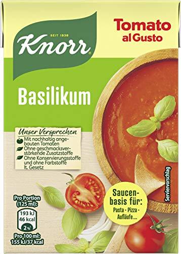 Knorr Tomato al Gusto Basilikum Soße, 8er-Pack (8 x 370 g)