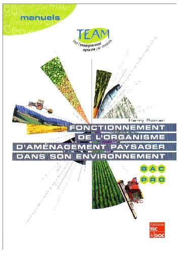 Fonctionnement de l'organisme d'aménagement paysager dans son environnement Bac pro Travaux paysagers: Module MP 4