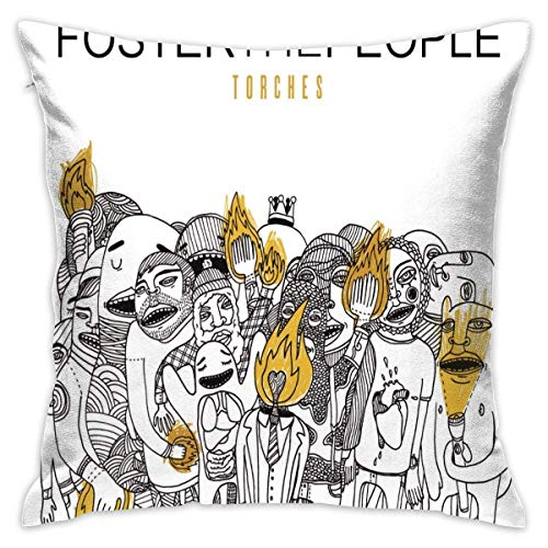 Of Foster The People Torches Casual Home Decor Cotton Cotton Custom Throw Pillow Cove Kissenbezüge (40cmx40cm)
