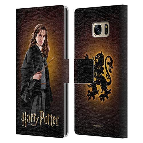 Oficial Harry Potter Hermione Granger Chamber of Secrets IV Carcasa de Cuero Tipo Libro Compatible con Samsung Galaxy S7 Edge
