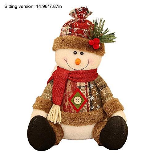 Decoración De Muñecas De Navidad Innovador Hecho A Mano Muñeco De Nieve Santa Claus Decoraciones De Estatuillas Muñecas De Peluche Suave Árbol De Navidad Decoración Del Hogar Regalos Para Niños Niñas