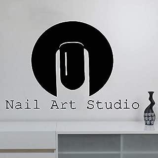 supmsds Nail Salon Vinyl Wall Sticker Beauty Shop Fashion Wall Decal Nail Art Studio Accesorios de decoración del hogar para Sala de estar71X107CM