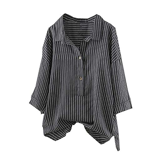 Buy Batwing Sleeve Tops V Neck Solid Cotton Linen Tops for Women Long Sleeve Black