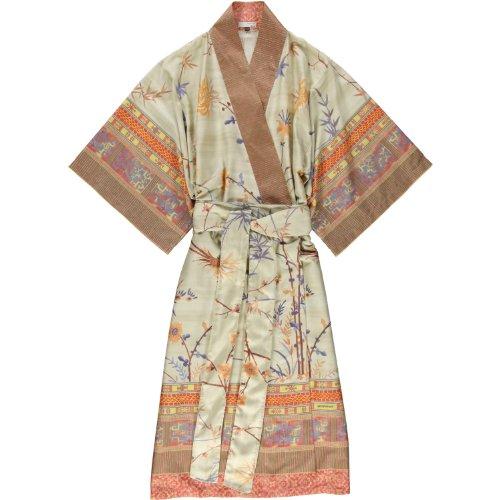 bassetti Bademantel Kimono Fong - Farbe: beige - V2, Größe: S/M (99238)