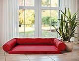 Artur Soja Lucky Ortho Orthopädisches Hundebett Schlafplatz Hundekissen Größe: M-XXL (XL 130x95cm, rot (Nr.11))