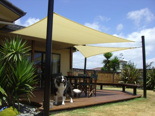 San Diego Sail Shades 24'x20' Rectangle (Sandy Beach) - Heavy Duty Commercial Grade 205gsm Shade Sail
