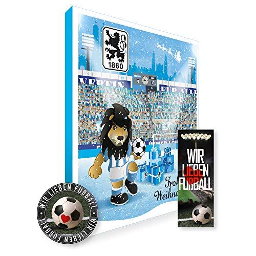 Adventskalender, Weihnachtskalender deines Bundesliga Lieblingsvereins 2019 - Plus gratis Sticker & Lesezeichen Wir Lieben Fußball (TSV 1860 München Premium)