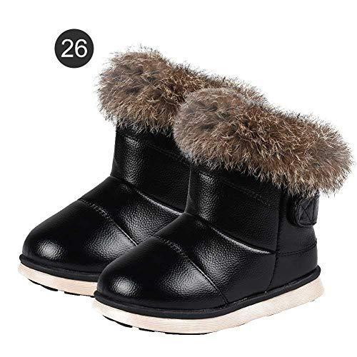 Per Snow Boots garçons Filles Chaussures Thermiques Chaussures de Pluie imperméables l'hiver