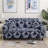 PPMP Funda de sofá elástica Floral Fundas de sofá para Sala de Estar Protector de Muebles de poliéster Fundas Funda de sofá A13 1 Plaza