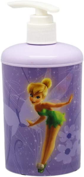 Disney Fairies Plastic Lavender Colored Floral Kids Soap Lotion Dispenser