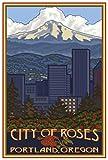 Poster, Motiv Portland Oregon Skyline Giclée, 30,5 x 45,7
