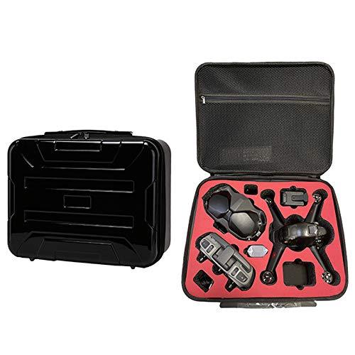 Funda rígida impermeable portátil compatible con gafas de Drone Combo V2, mando a distancia, funda rígida de transporte (dron y accesorios no incluidos), color negro