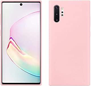 Matte Plastic Flexible Protection Cover, Smooth, Soft TPU Case for Samsung Galaxy Note 10 Plus (Light Pink)