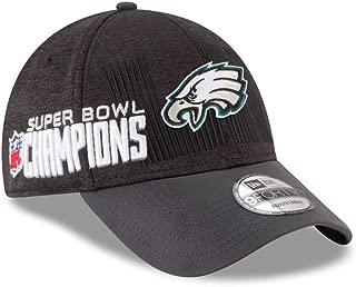 New Era Philadelphia Eagles Super Bowl LII Champions Trophy Collection Locker Room 9FORTY Adjustable Hat Black