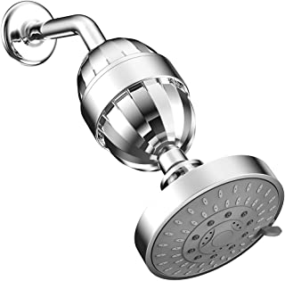 ESOW High Output Shower Head with Multi-Stage Shower Filter, Hard Water Filter Removes Chlorine Fluoride Lead & Other Sedi...