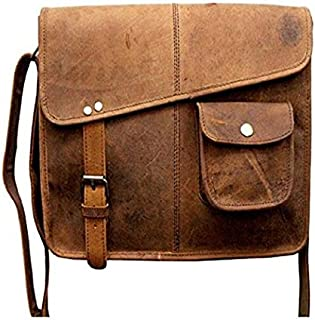 TUZECH Designer Buffalo Hunter Leather Bag Laptop Bag - Fits Laptop Upto 13.3 Inches