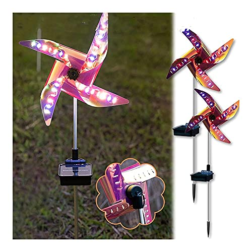 KLDDE Luces de jardín Solar Luces de Mariposa LED al Aire Libre, Luces de Paisaje Impermeable de jardín para Patio Césped Pathyard Pathway Lights Decoraciones del Partido, 2pcs